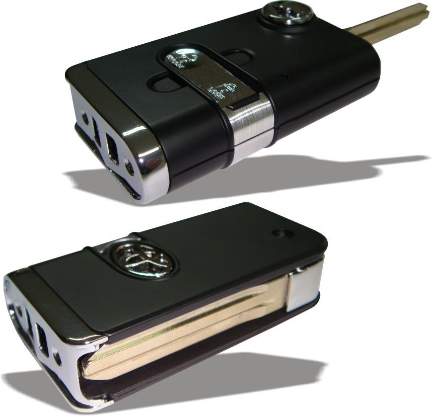 Chave Canivete Toyota Preta Para Hilux Sw4