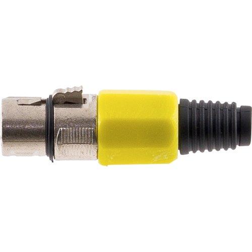Conector Cannon XLR Femea JCCN0008 Plastico Amarelo STORM