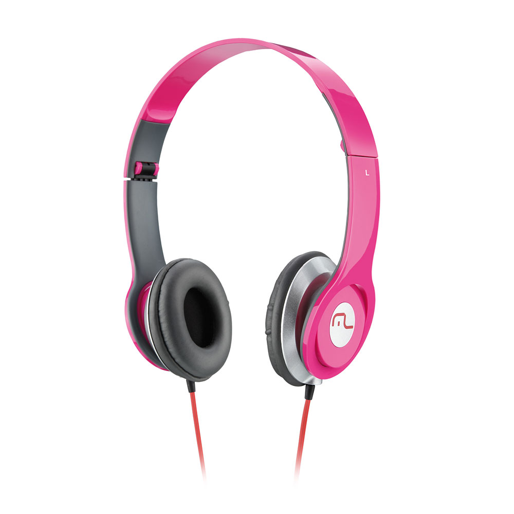 Fone de Ouvido Multilaser Headfone Rosa - PH068
