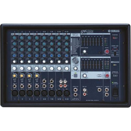 Mesa de SOM Amplificada de 1000W 12 Canais EMX512SC Yamaha