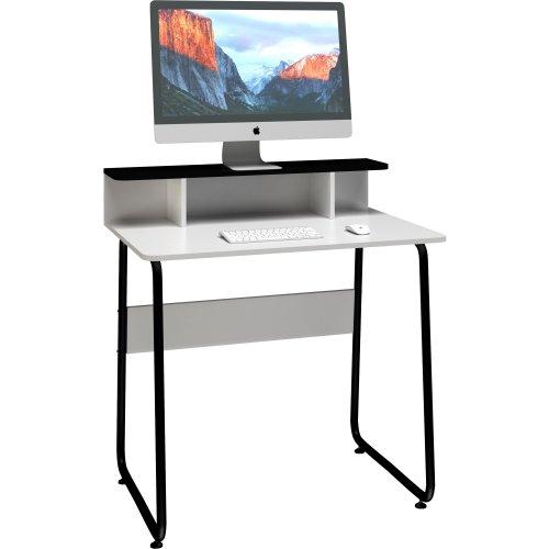 Mesa para Computador Compacta JOBBRPR BRANCA/PRETA Multivisao