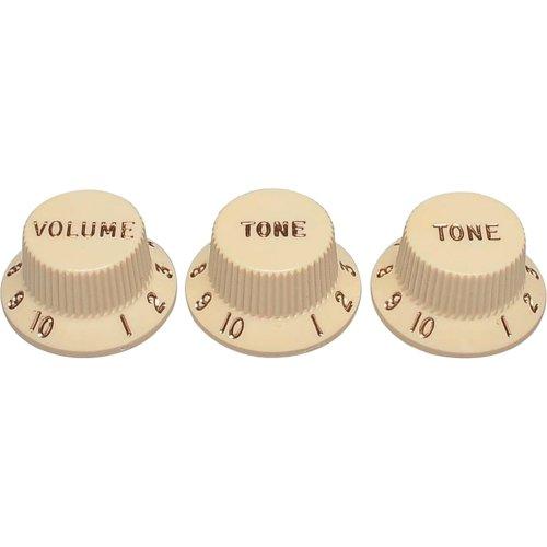 SET de KNOBS para Guitarra Stratocaster VTT Branco Fender