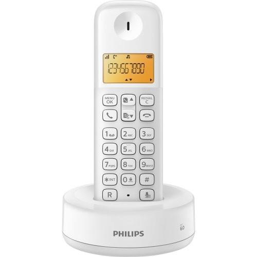 Telefone sem Fio com ID D1301W/BR Branco Philips