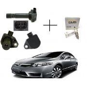 4 Bobinas de Ignição Honda New Civic, CR-V 2.0 + Vela Iridium 099700101