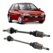 Par de Semi Eixo Peugeot 106 1.0 sem Abs 1996 a 2006