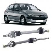 Par de Semi Eixo Peugeot 206 1.6 16V 2001 2002 2003 2004 2005 2006 2007 2008