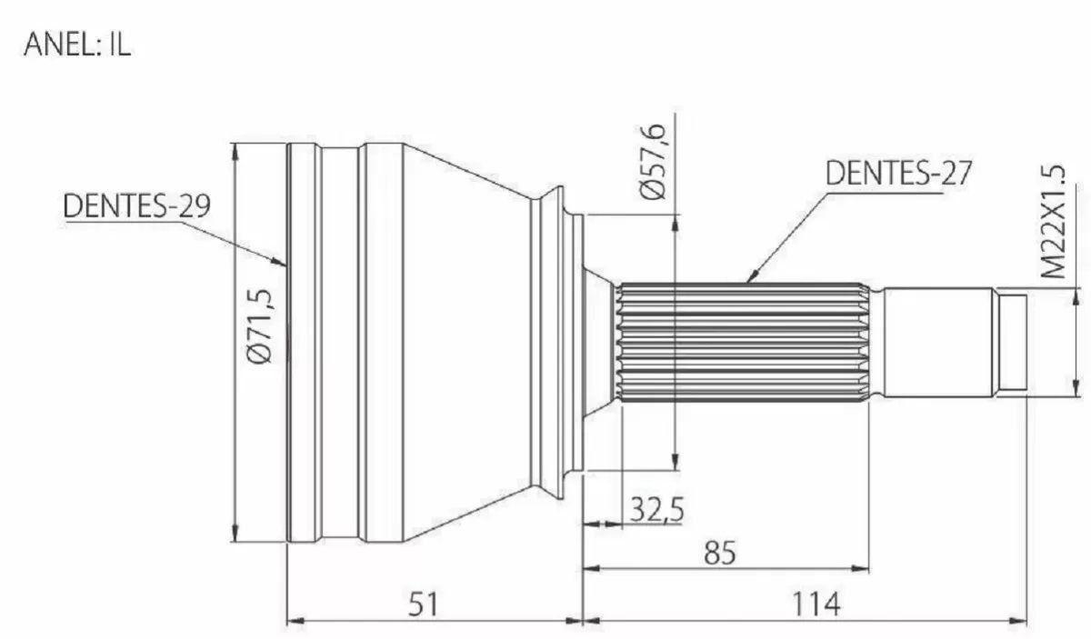 Junta Homocinética Subaru Impreza 1.8/2.0 4x4 ( Traseiro )