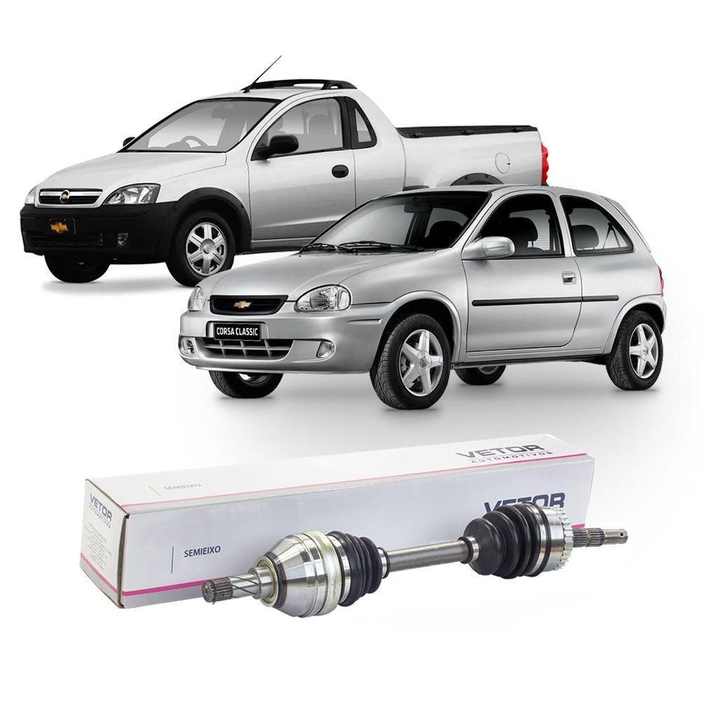 Semi Eixo Chevrolet Corsa 1.8 8V Montana 1.8 8V 2002 2003 2004 2006 2007 - Lado Esquerdo