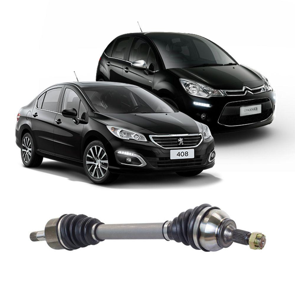 Semi Eixo Peugeot 308 408 1.6 2.0 2011 2012 2013 2014 2015 2016 2017 2018 2019 2020 Manual - Lado Esquerdo
