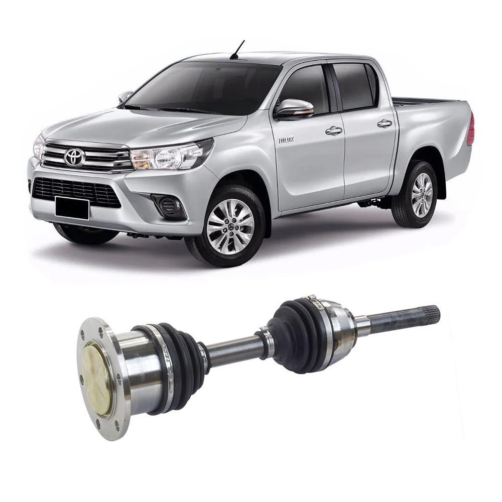 Semi Eixo Toyota Hilux 2.8 4X4 1992 a 1999 4X4 3.0 1997 a 2005 - Lado Direito e Esquerdo  26 lado roda (tulipa fixação parafuso)