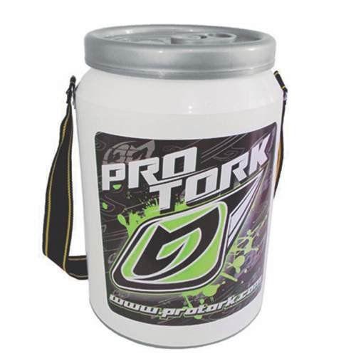 Cooler Térmico Branco Verde Pro Tork 24 Latas De Bebidas