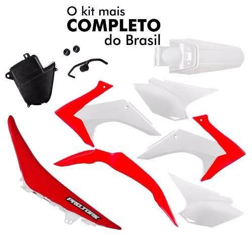 Kit Plásticos Honda Crf 230 2015 + Banco Vermelho