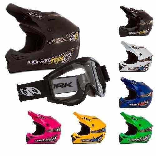Capacete Óculos Bicicleta Downhill Trilha Motocross