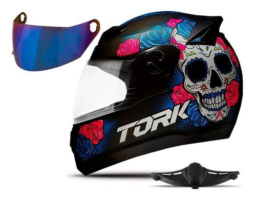 Capacete Pro Tork Caveira Mexicana Evolution G7 Skull Fosco