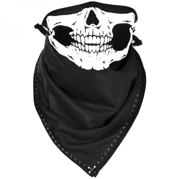 Bandana Caveira Skull Preto e Branco