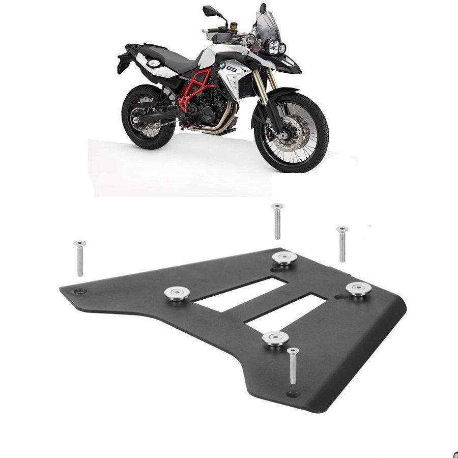 Base de Fixação Preta para Moto Bmw F 800 Gs Roncar
