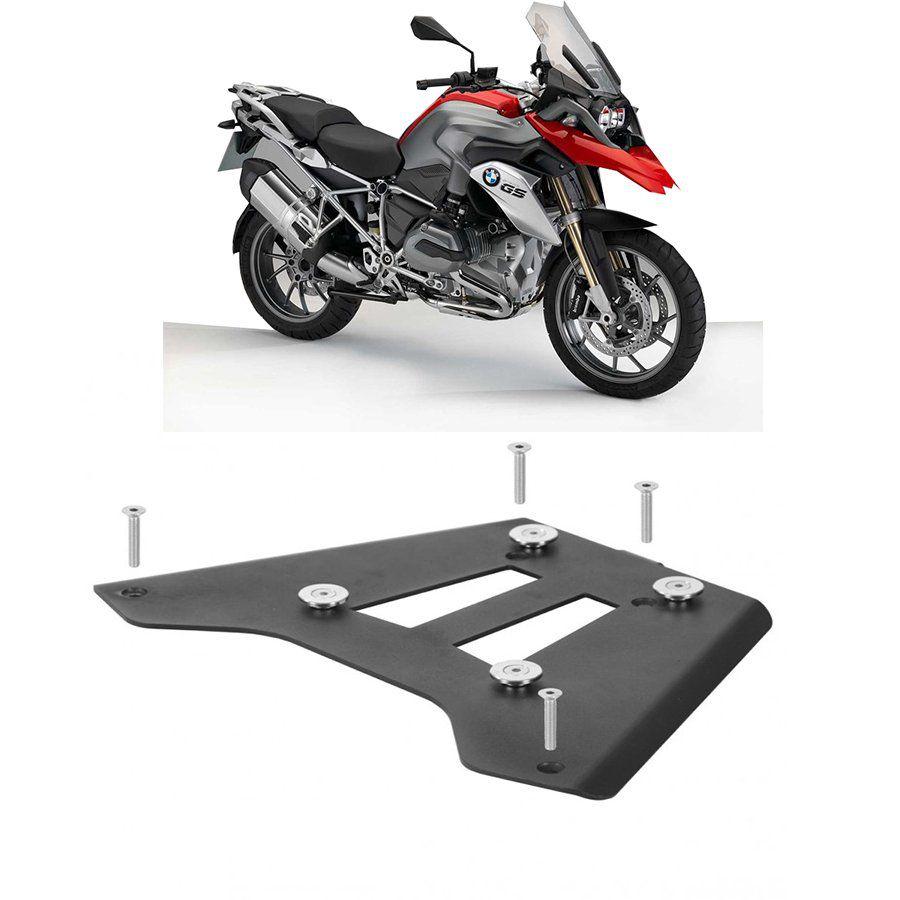 Base de Fixação Preta para Moto Bmw R 1200 Gs 2013 Roncar
