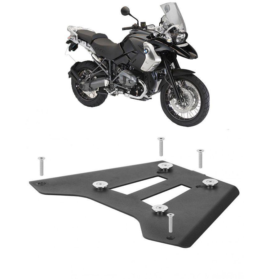 Base de Fixação Preta para Moto Bmw R 1200 Gs 2005/12 Roncar