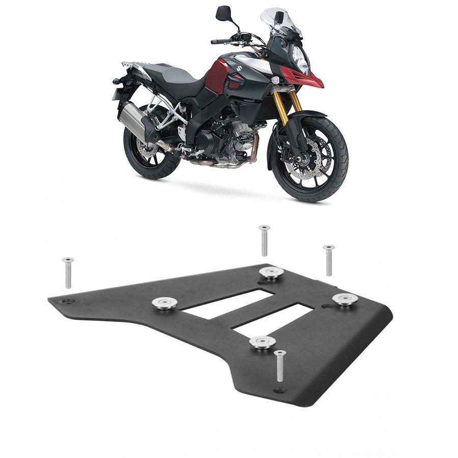 Base de Fixação Preta para Moto Suzuki Dl 1000 V-Strom Roncar