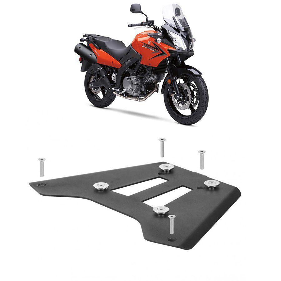 Base de Fixação Preta para Moto Suzuki Dl 650 V-Strom Roncar