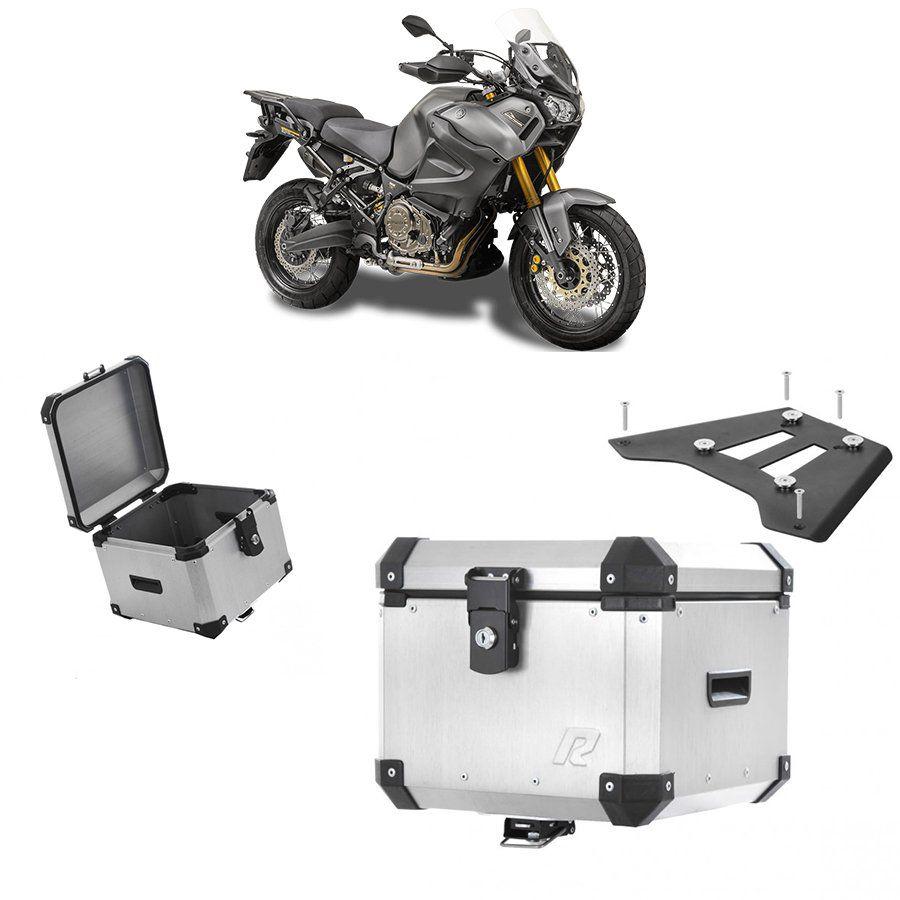 Bauleto Traseiro Roncar 35 Litros + Base de Fixacao para Moto Yamaha Super Tenere 1200 Aluminio Escovado