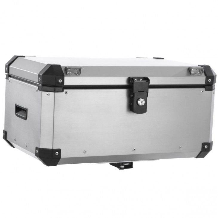 Bauleto Traseiro 56 Litros Roncar Aluminio Escovado