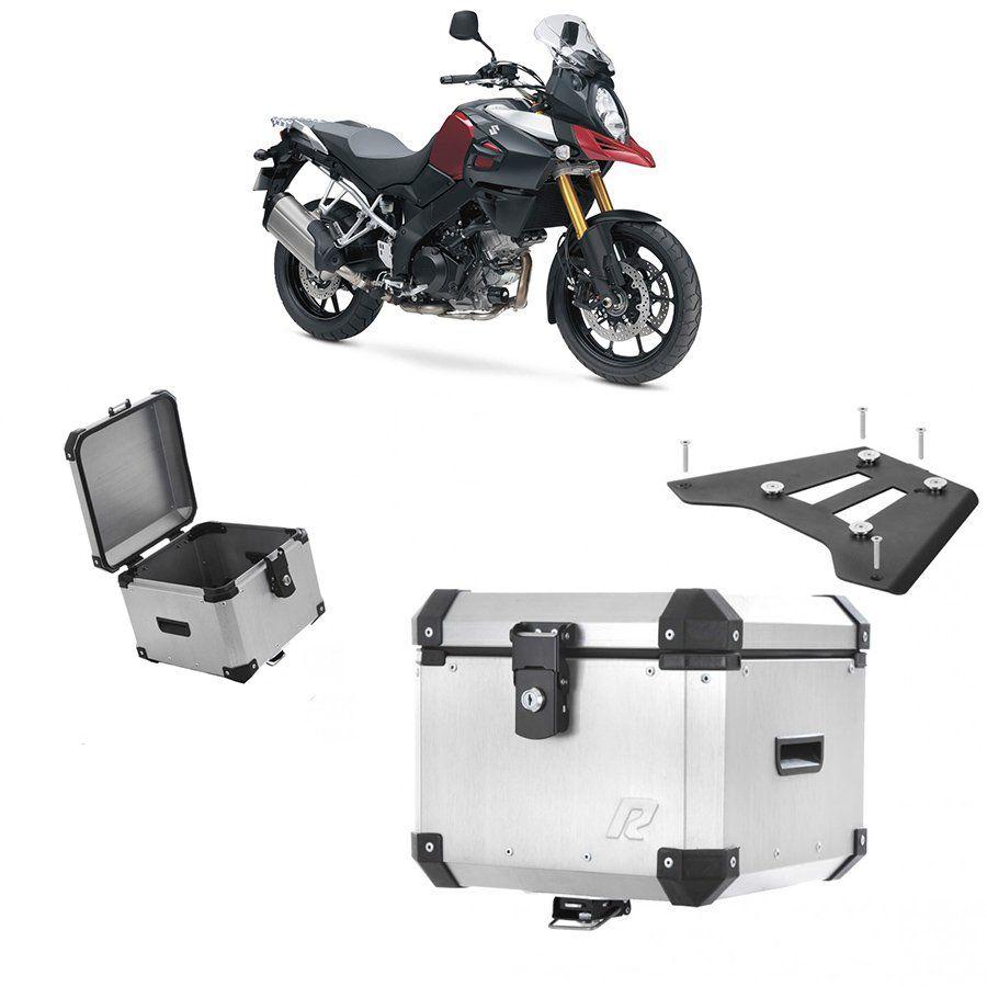 Bauleto Traseiro Roncar + Base de Fixação Peça para Moto Suzuki Dl 1000 V-Strom 2014 A 2017