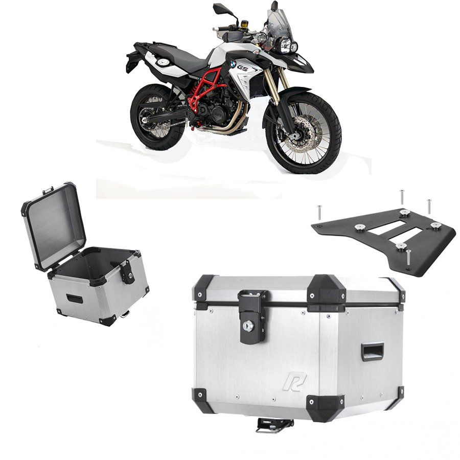 Bauleto Traseiro Roncar 35 Litros + Base de Fixacao para Moto Bmw F 800 Gs