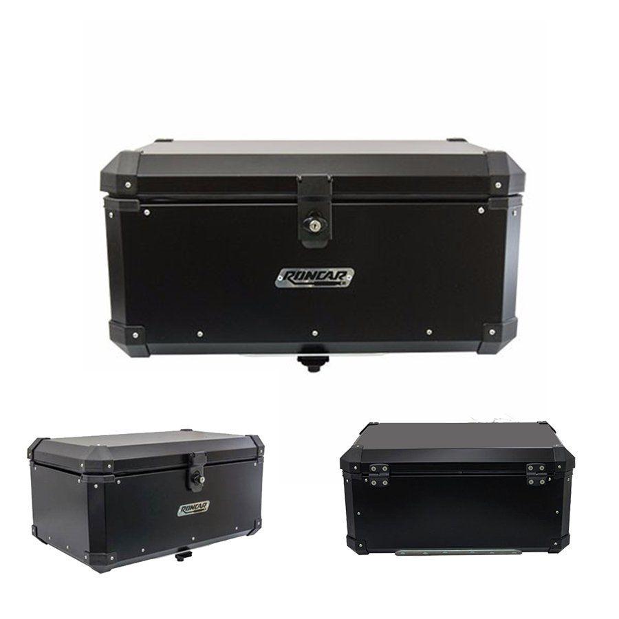Bauleto Traseiro Top Case 56 Litros Roncar Aluminio Preto