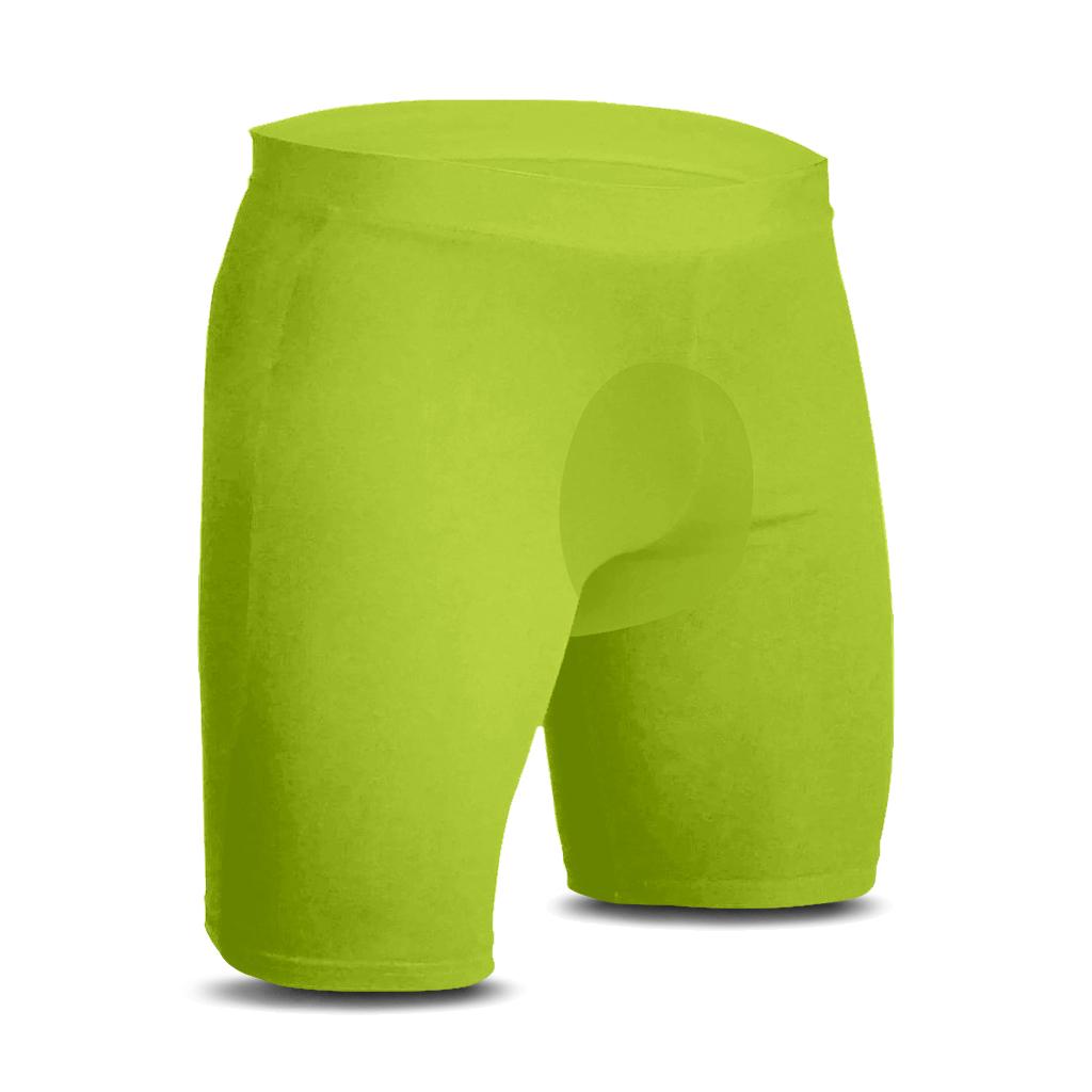 Bermuda Térmica de Ciclismo Segunda Pele AD Store Dry Fit Verde Neon