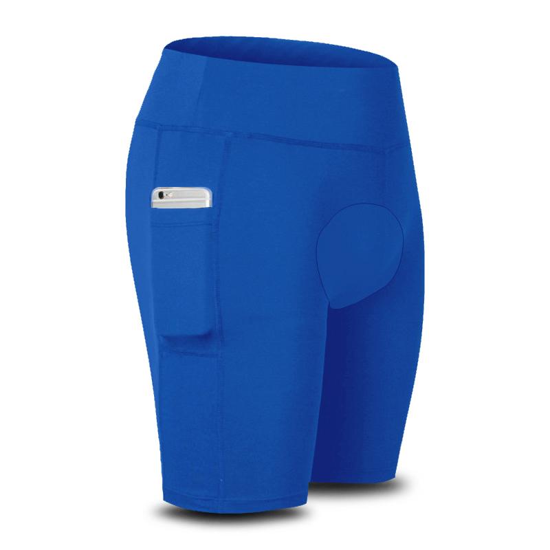 Bermuda Térmica de Ciclismo Segunda Pele com Bolso AD Store Dry Fit Azul