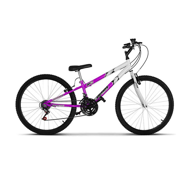 Bicicleta Aro 26 Feminina Bicolor 18 Marchas Ultra Bikes - Lilás - Oferta Única