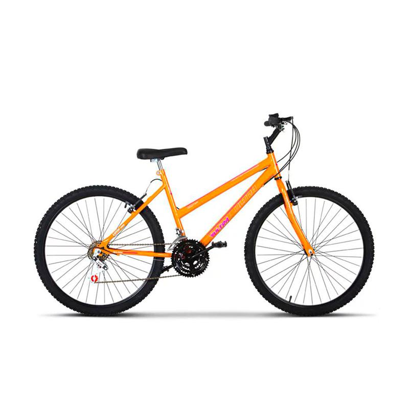 Bicicleta Aro 26 Feminina Adulto 18 Marchas Rebaixada Monocolor Ultra Bikes - Laranja - Oferta Única