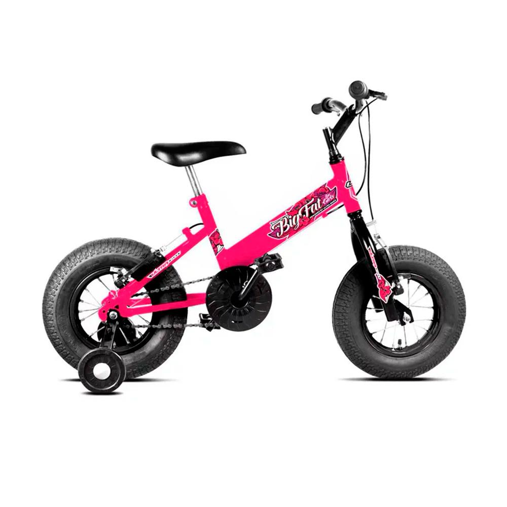 Bicicleta Infantil Feminina Aro 16 Ultra Bikes Big Fat - Rosa - Oferta Única