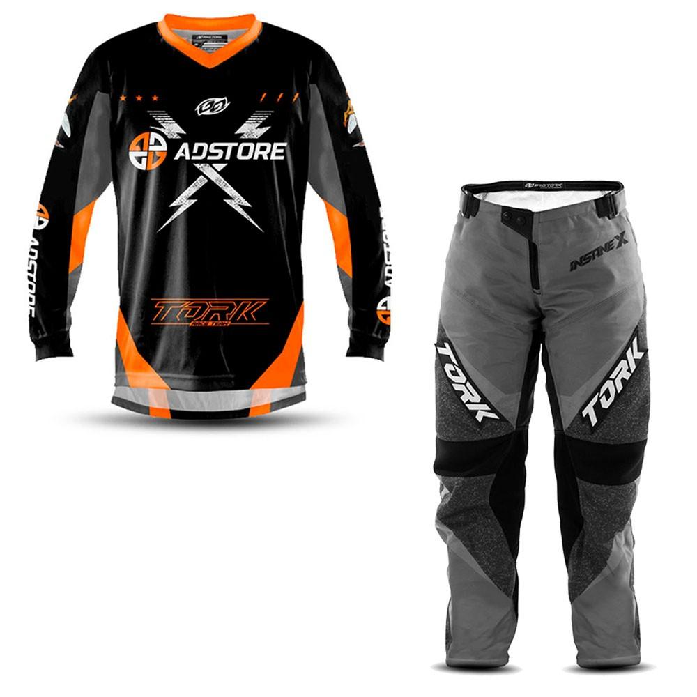 Calça e Camisa Motocross AD Store Team Laranja
