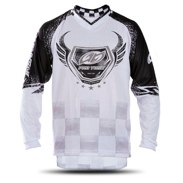 Camisa Adulto Motocross Trilha Pro Tork Insane 5 Branca Preta Oferta Fim de Ano