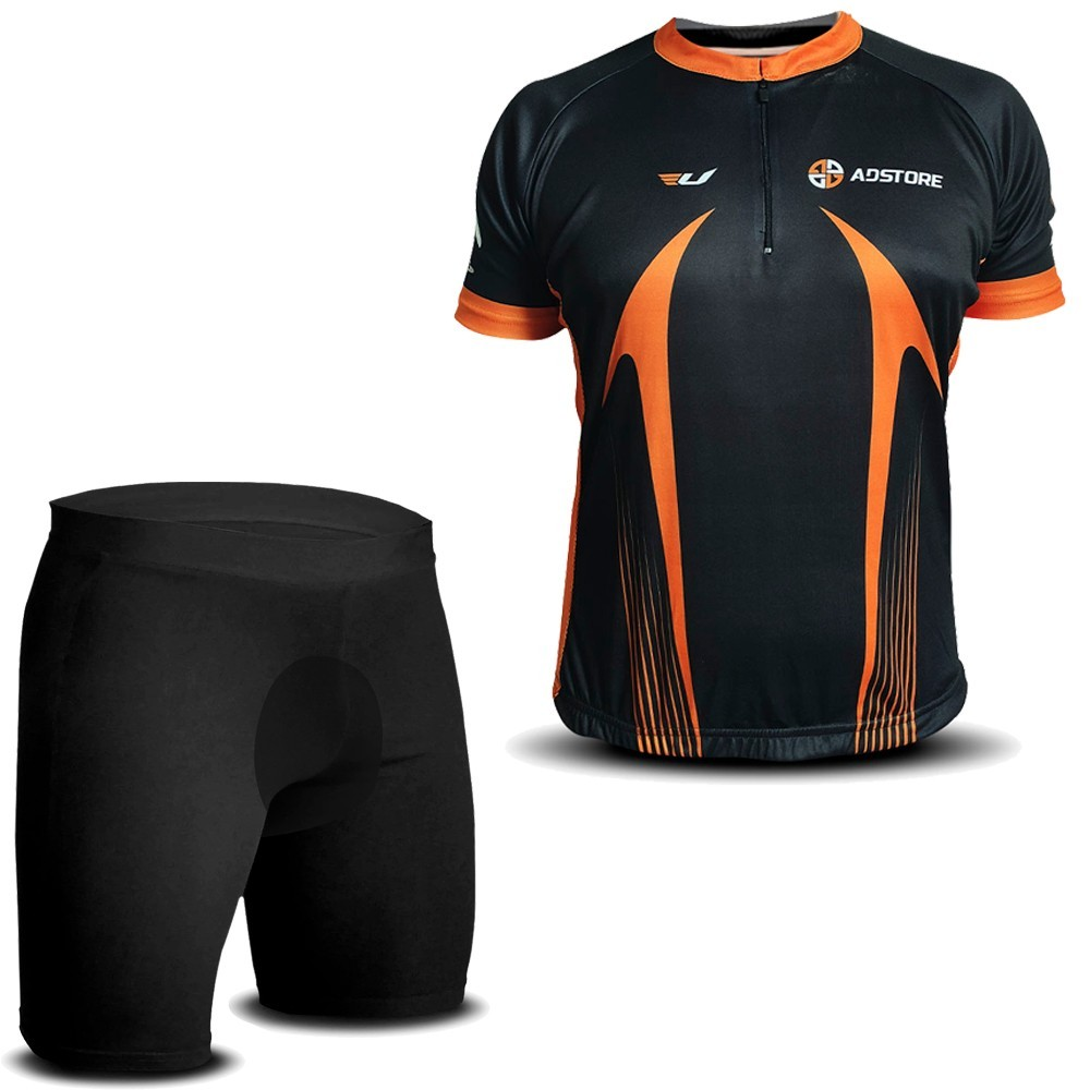 Conjunto Ciclismo AD Store Camisa e Bermuda Térmica
