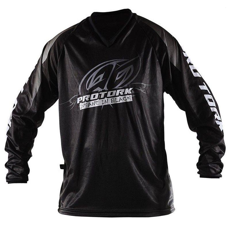Camisa Piloto Trilha Motocross Insane in Black Pro Tork