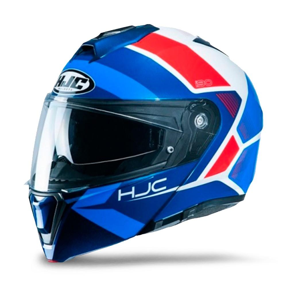 Capacete de Moto Escamoteável HJC I90 Hollen Azul Tamanho 58