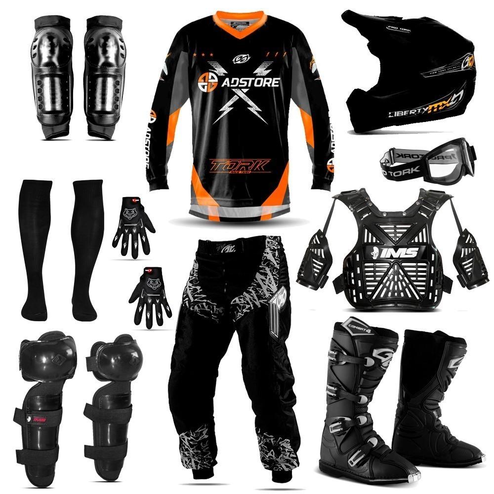 Kit Equipamento Trilha Motocross Conjunto Tork Ims Ad Store
