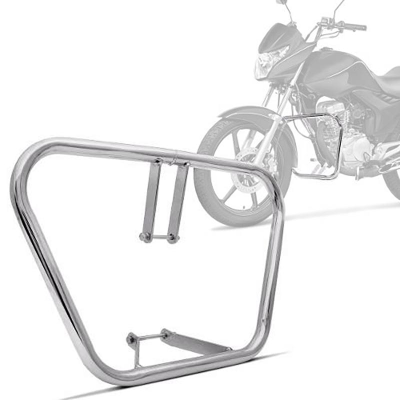 Mata Cachorro Moto Tradicional Honda Titan 160 2016 Cromado