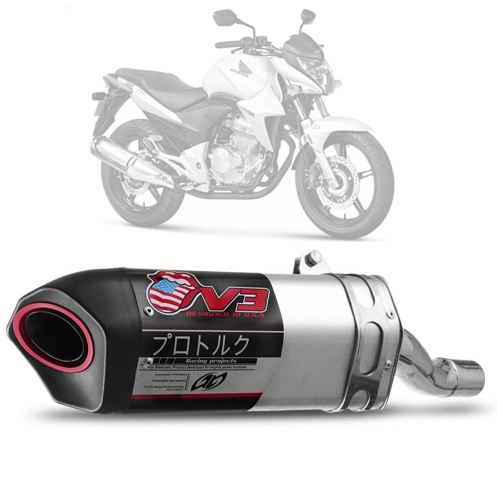 Ponteira Escape Esportiva V3 Honda CB 300 R Pro Tork