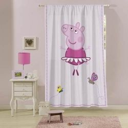 Cortina Estampada Peppa Pig 1,50 X 2,20 Lepper Original
