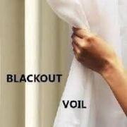 Cortina Blackout com Voil Branco 2,00x1,80 Corta Luz