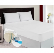 Capa Colchão + Protetor Travesseiro Impermeável Casal Master
