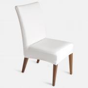 Capa de Cadeira Em Malha Branca Jolitex