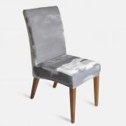 Capa de Cadeira Em Veludo Cinza Jolitex