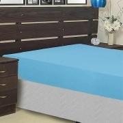 Capa protetora para colchão impermeável Casal Azul  Admirare