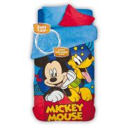 Coberdrom Fleece Dupla Face Mickey com 1 peça | Lepper