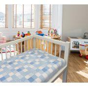 Cobertor Baby 110 x 90 Microfibra Patchwork Camesa - Azul